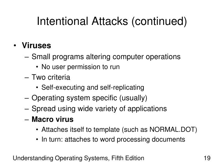 Intentional Attacks (continued)