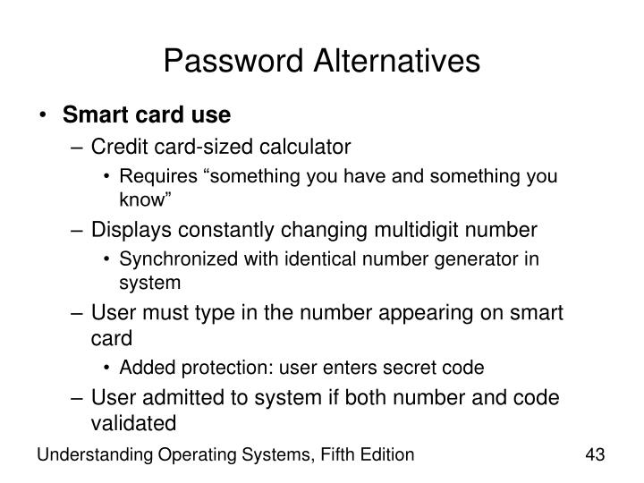 Password Alternatives
