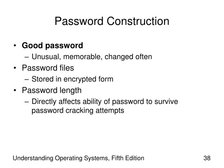 Password Construction