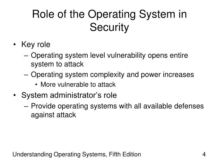 Role of the Operating System in Security