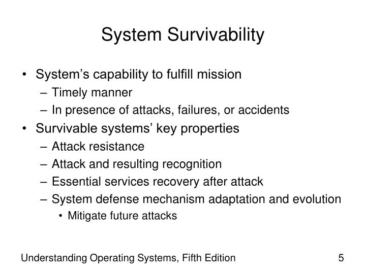 System Survivability