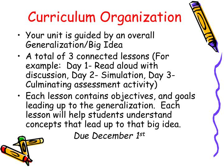 Curriculum Organization