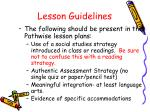 lesson guidelines