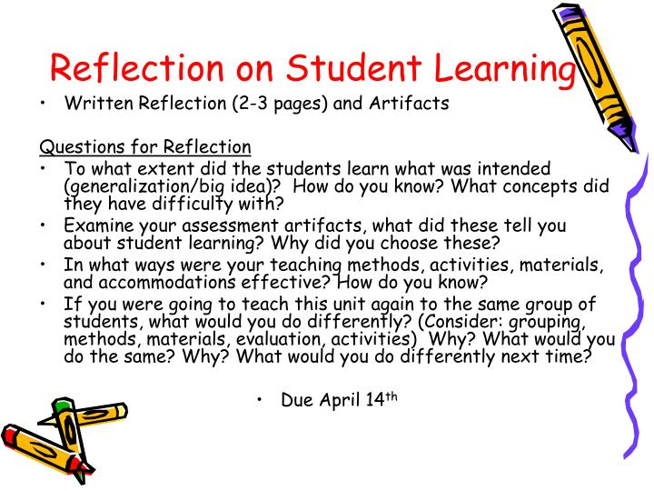Reflection on Student Learning