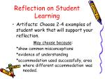reflection on student learning1