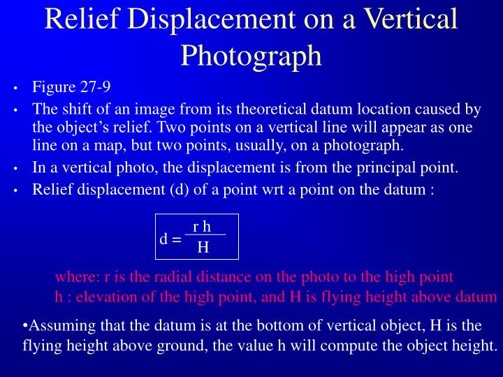 Relief Displacement on a Vertical Photograph