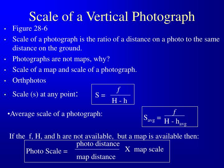 Scale of a Vertical Photograph