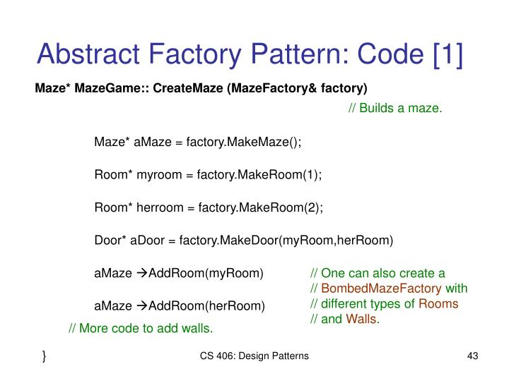 Abstract Factory Pattern: Code [1]