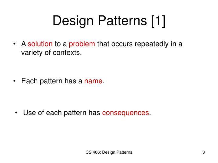 Design Patterns [1]