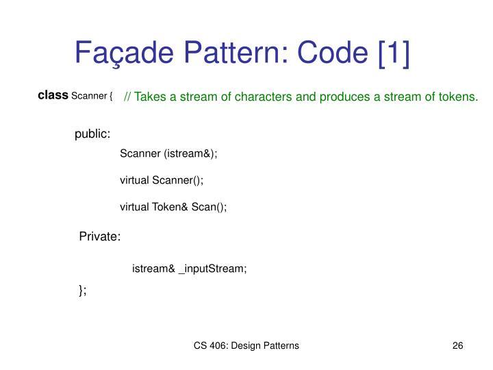 Façade Pattern: Code [1]