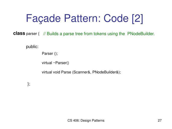 Façade Pattern: Code [2]