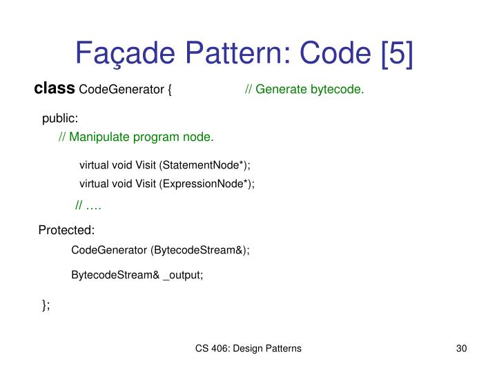 // Manipulate program node.