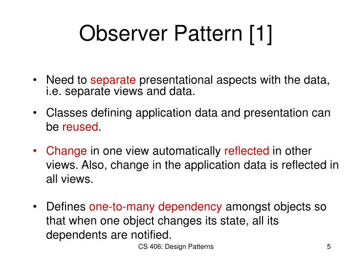 Observer Pattern [1]