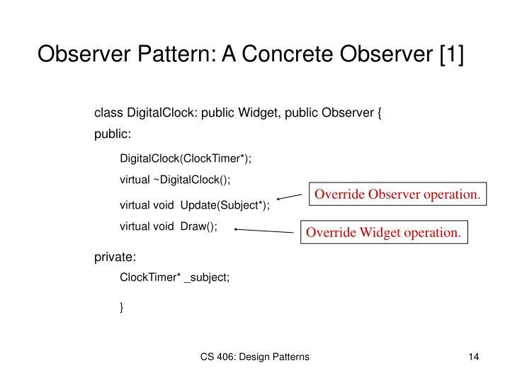 Override Observer operation.