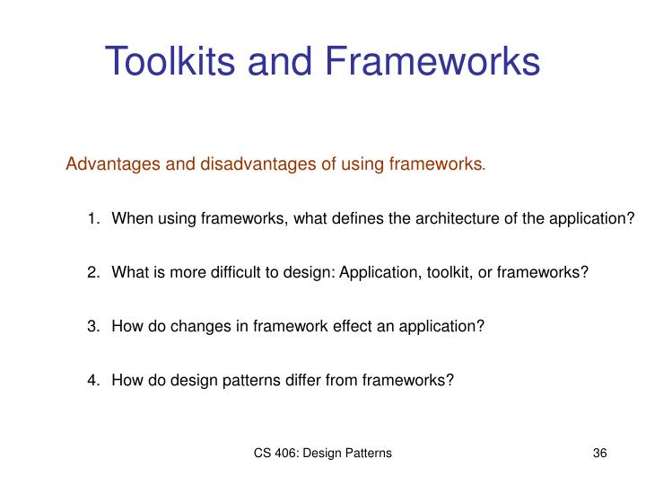 Toolkits and Frameworks