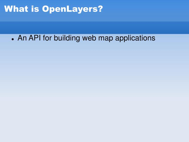 What is openlayers1
