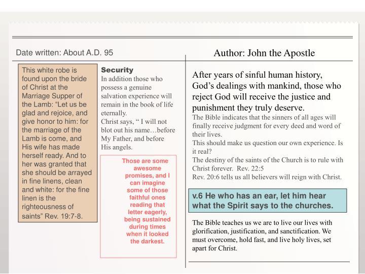 Author: John the Apostle
