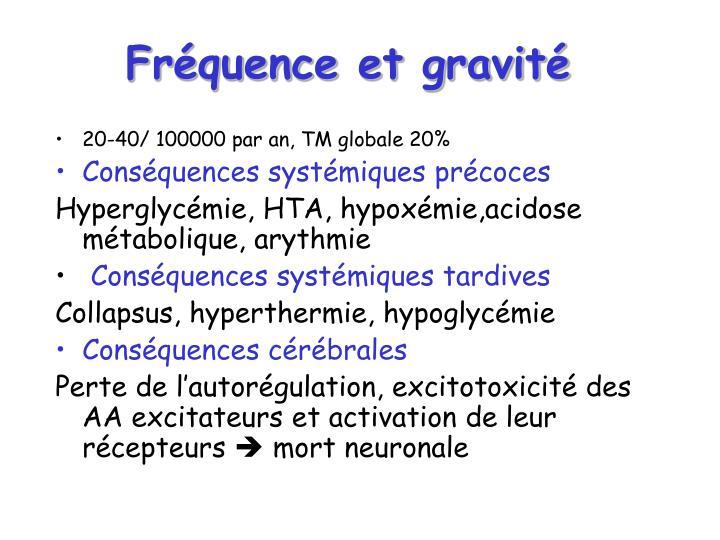 Fréquence et gravité