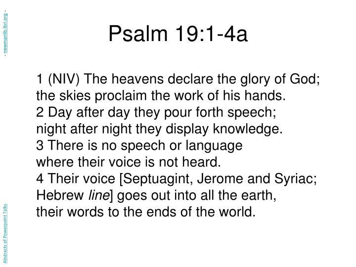 Psalm 19:1-4a