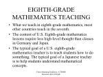 eighth grade mathematics teaching