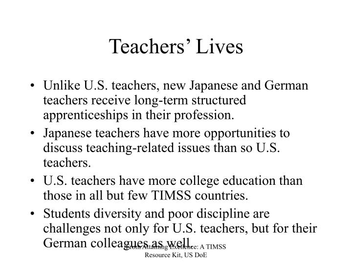 Teachers' Lives