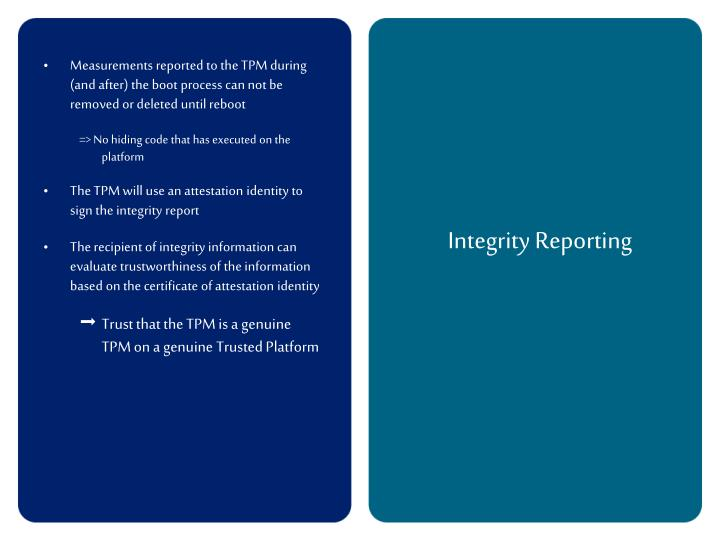 Integrity Reporting