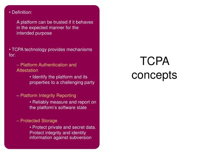 TCPA concepts