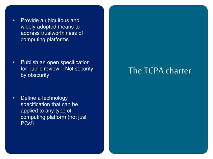 The TCPA charter