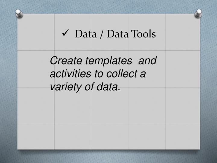 Data / Data Tools