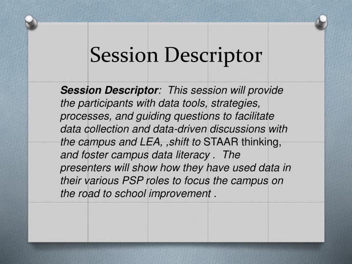 Session Descriptor