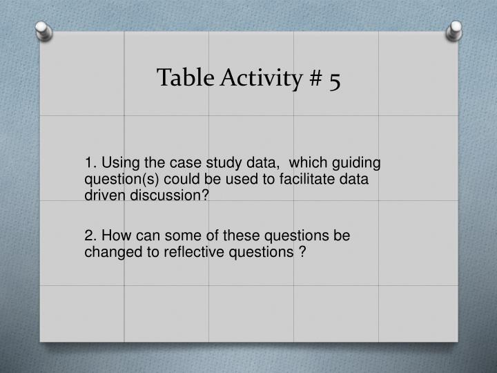 Table Activity # 5