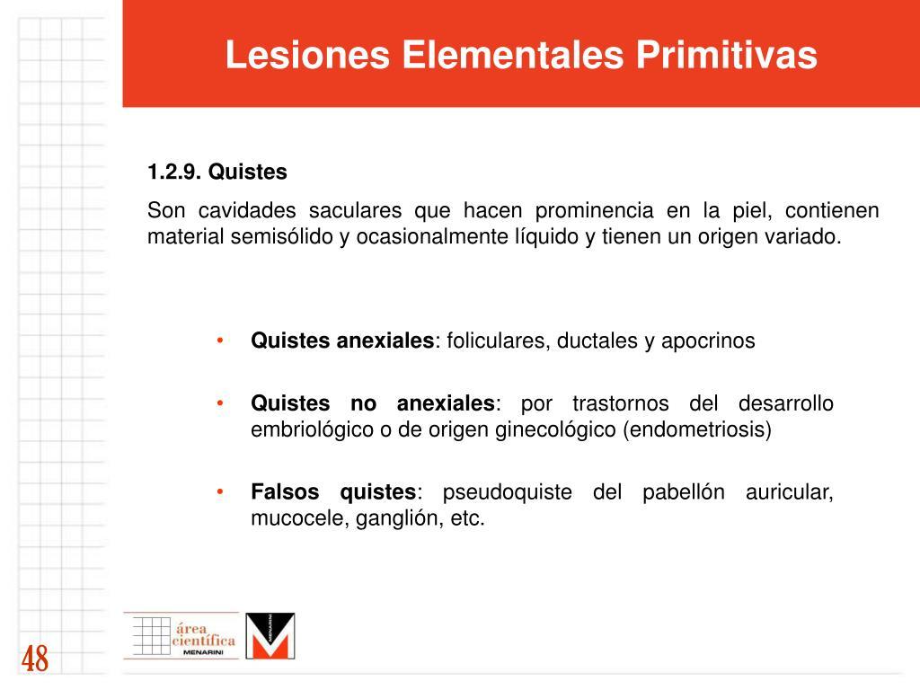 Lesiones Elementales Primitivas