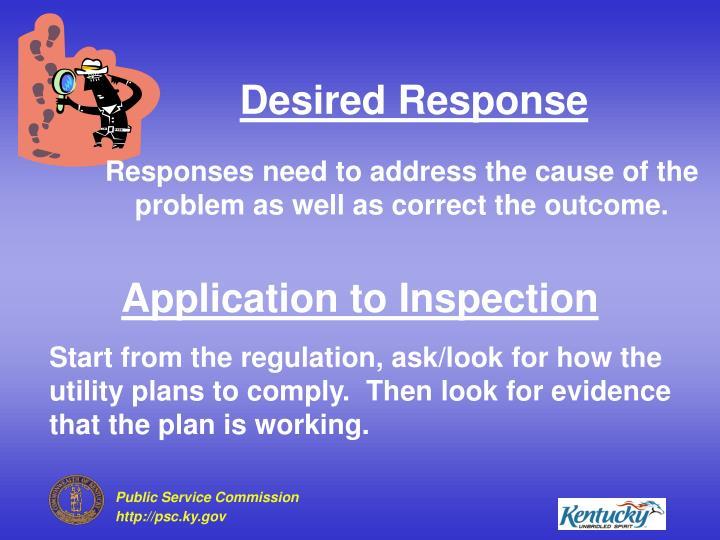 Desired Response