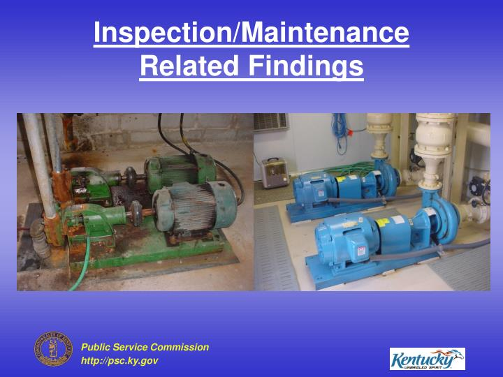 Inspection/Maintenance Related Findings