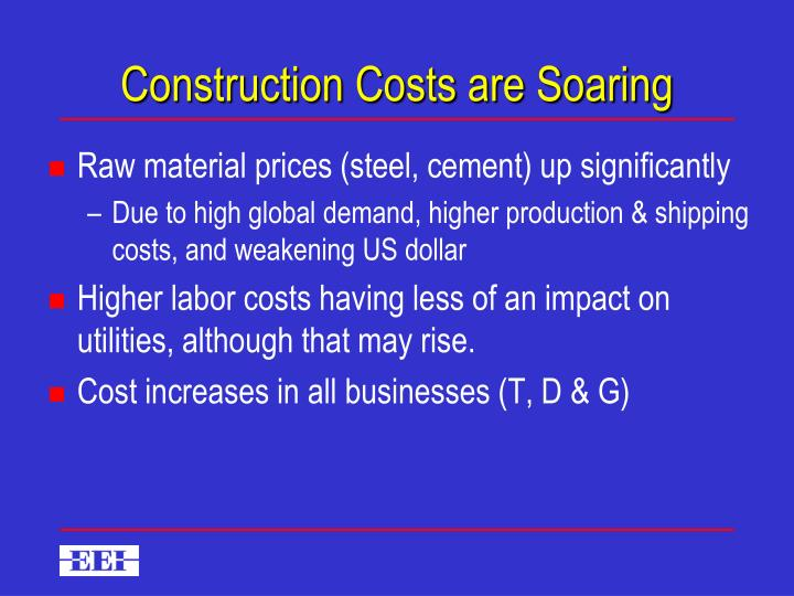 Construction Costs are Soaring