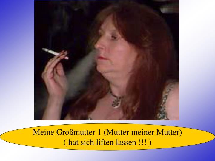 Meine Großmutter 1 (Mutter meiner Mutter)
