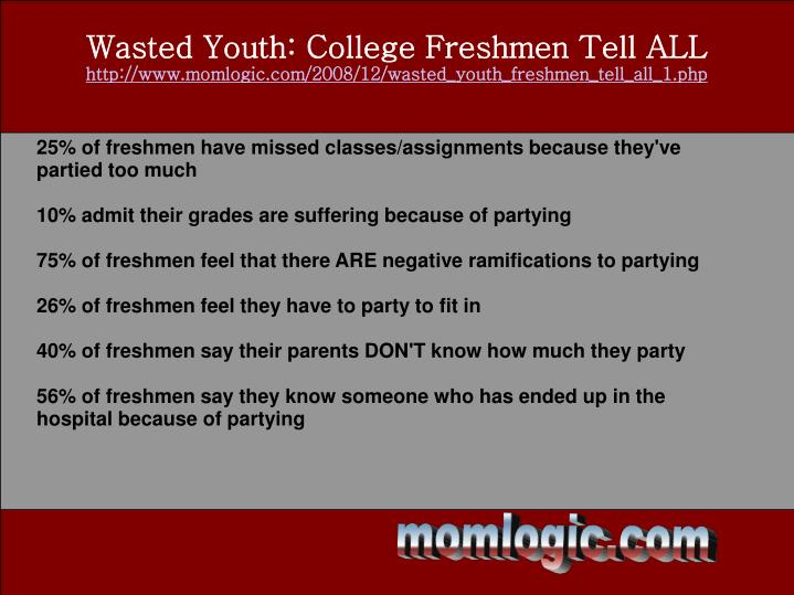 Wasted Youth: College Freshmen Tell ALL