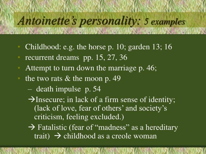 Antoinette's personality: