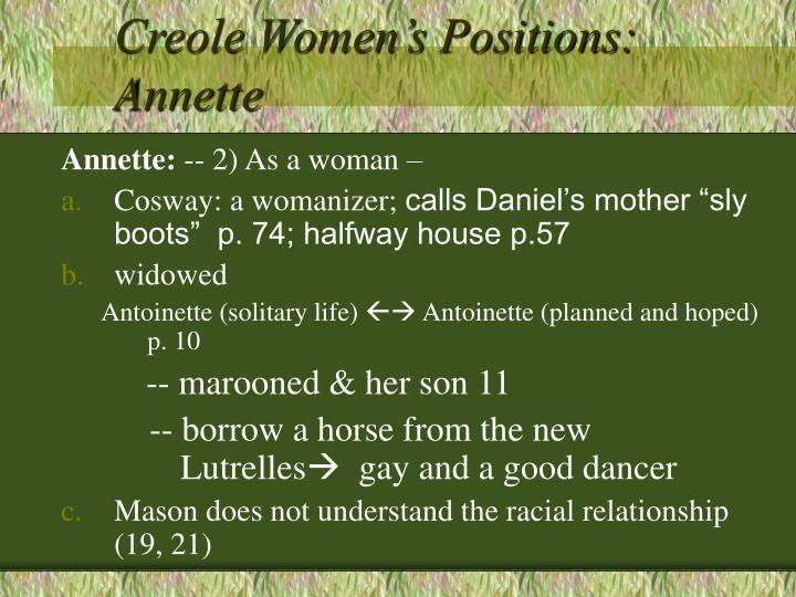 Creole Women's Positions: Annette