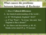 what causes the problems between antoinette rochester