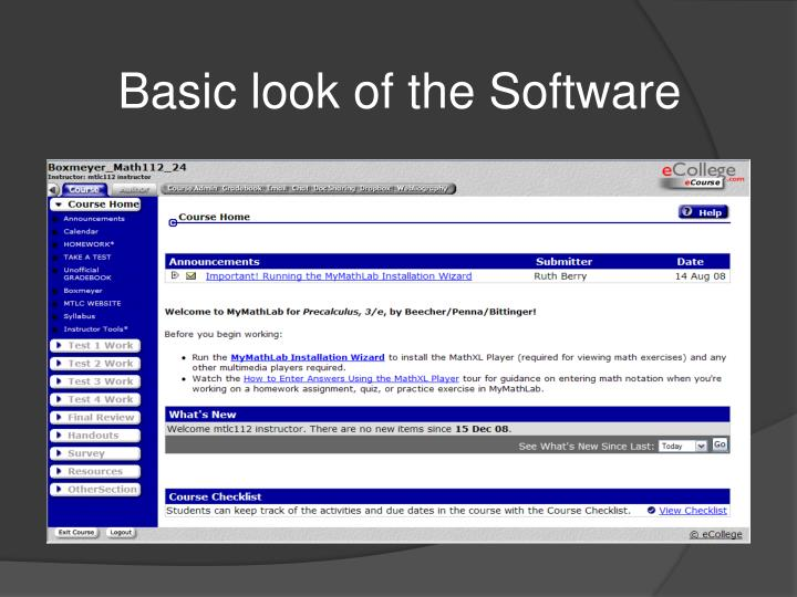 Basic look of the Software
