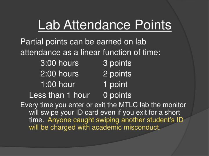 Lab Attendance Points