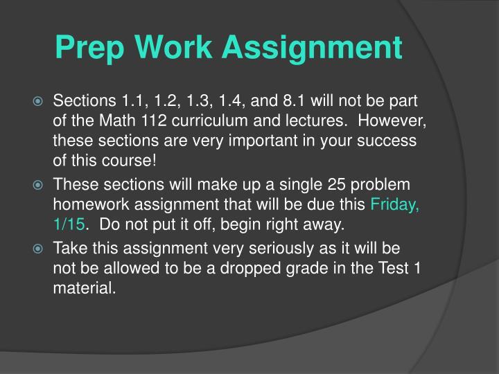 Prep Work Assignment