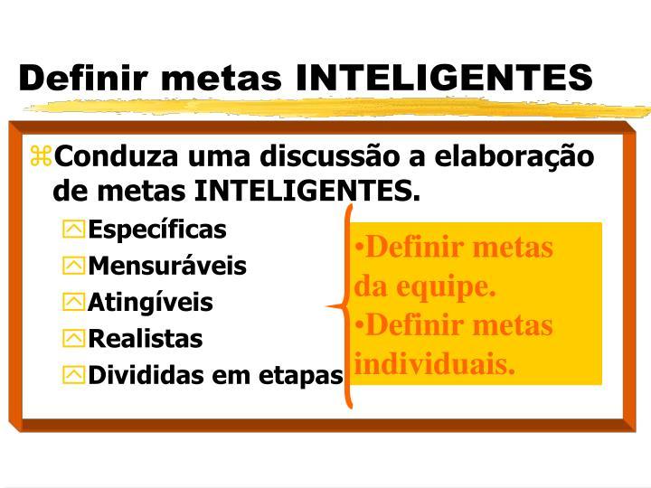 Definir metas INTELIGENTES