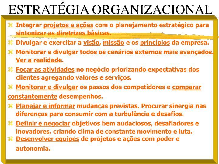 ESTRATGIA ORGANIZACIONAL