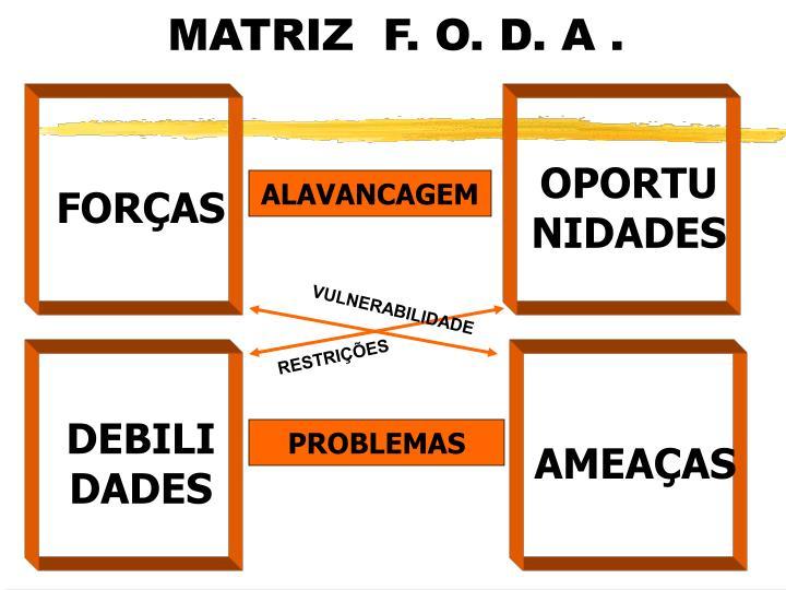 MATRIZ  F. O. D. A .