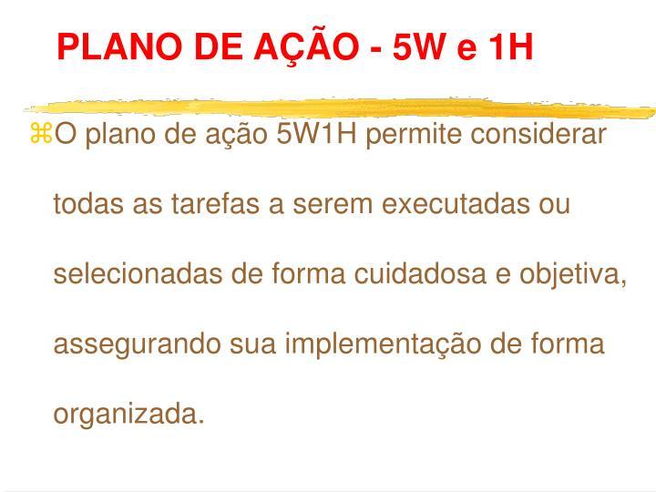 PLANO DE AÇÃO - 5W e 1H