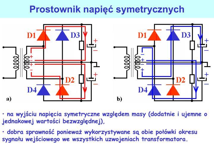Prostownik napi symetrycznych