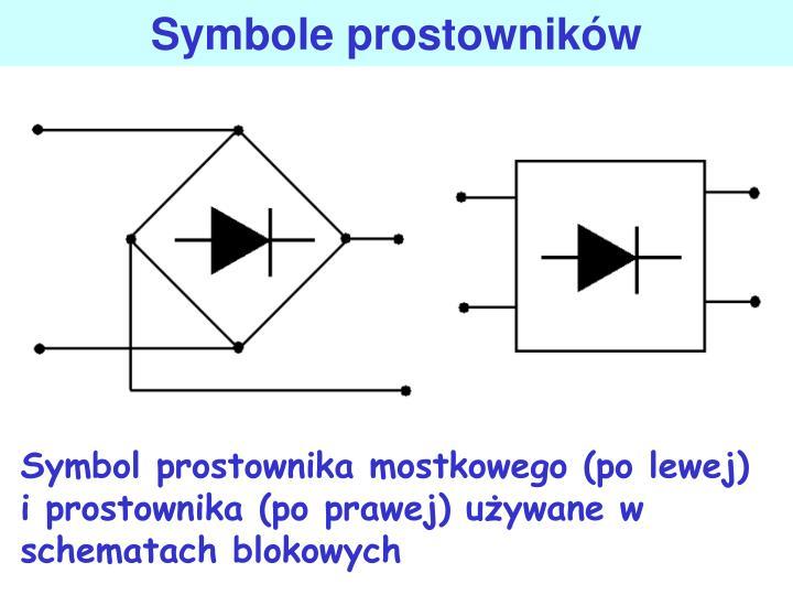 Symbole prostownikw