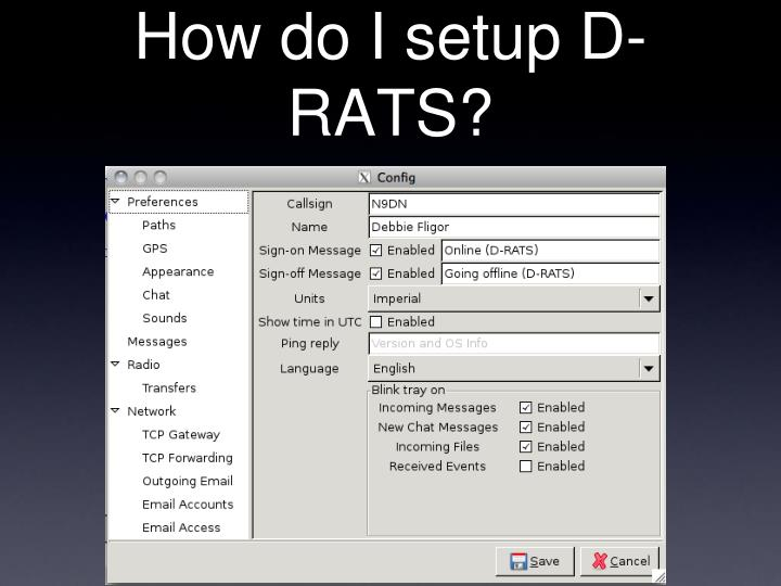 How do I setup D-RATS?